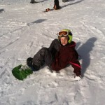 Etc Guy Maggie snowboarding_140308