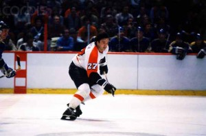 Philadelphia Flyers' Reggie Leach in Hockey Action