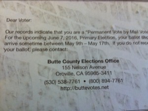 election ballot info