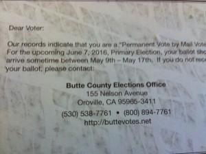 election ballot info