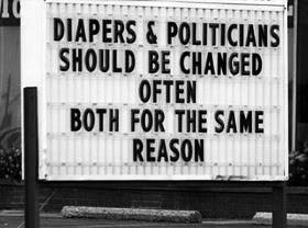 diapers and politicians