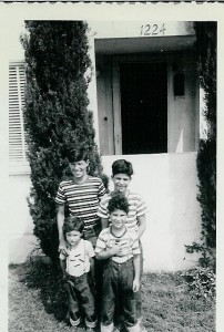 Bob, Paul, Me & Rich at Hazard St house @ 1949