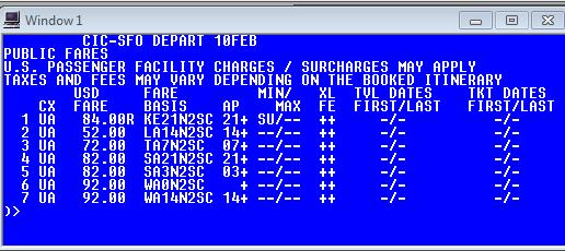 UA tariff display CICSFO 10JAN14